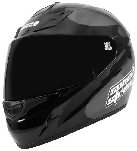 Speed & Strength SS1000 Moment of Truth Helmet , Size: Sm, Primary Color: Gray, Distinct Name: Charcoal/Black Moment of Truth, Helmet Type: Full-face Helmets, Helmet Category: Street, Gender: Mens/Unisex 87-4014