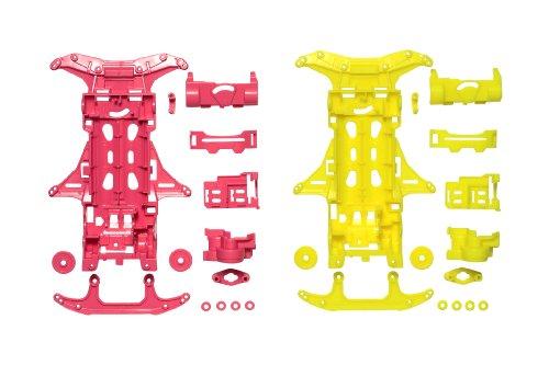 VS蛍光カラーシャーシセット(ピンク・イエロー) ミニ四駆限定商品 [94838]