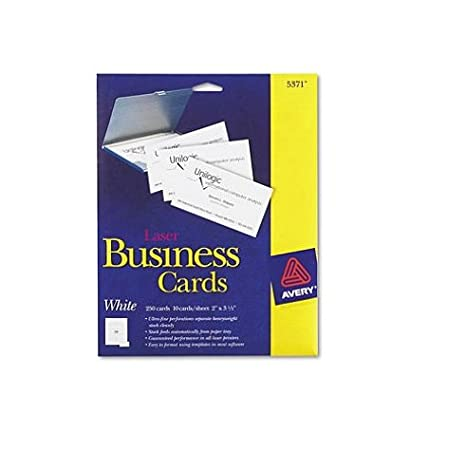 Amazon Avery Laser Perforated Business Card A8 2ampquot X