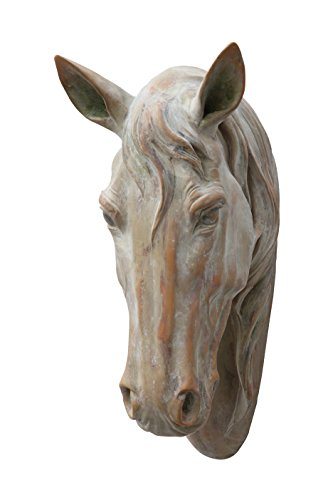 Creative Co-op Resin Horse Head for - Horse Wall Head