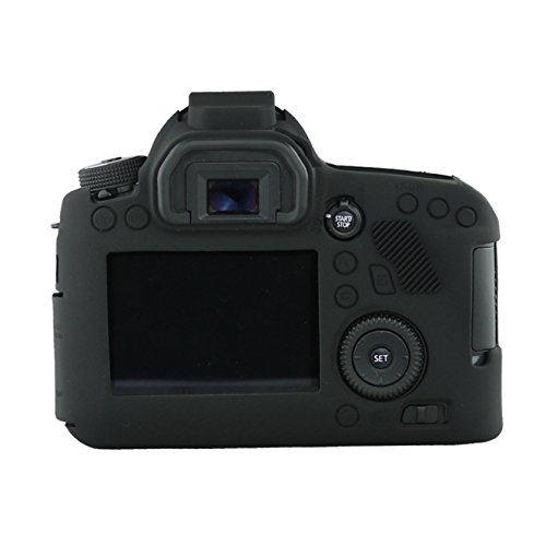 FNSHIP Professional Soft Silicone Rubber Camera Protective Cover Case Skin For Canon EOS 6D Digital SLR Camera (Black)