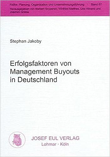 Erfolgsfaktoren Von Management Buyouts In Deutschland Livre