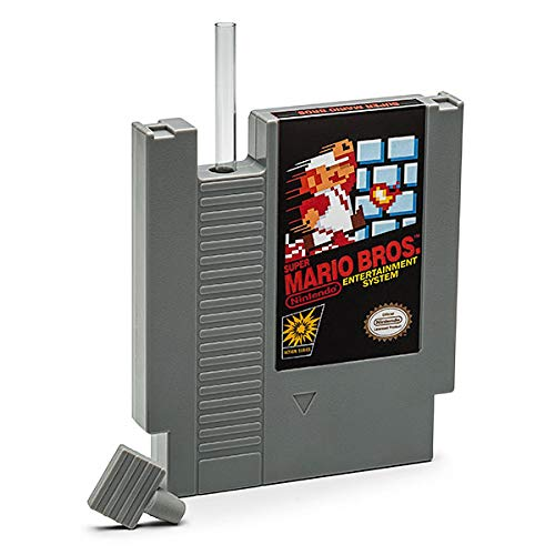 Super Mario Bros NES Cartridge 5-Ounce Flask | Licensed Nintendo Merchandise | Novelty Beverage Holder | Perfect For Birthdays, Holidays, Graduation, Bachelor and Bachelorette Parties            -