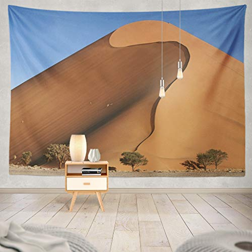 KJONG Desert Sand Day Hills Landscape Orange Decorative Tapestry,60X80 Inches Wall Hanging Tapestry for Bedroom Living Room