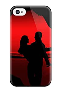 Forever Collectibles Love With Red Background Hard Snap-on Iphone 4/4s Case