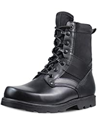 Mens Military Combat Boots Laceup Jungle Leather Police Tactical Boots