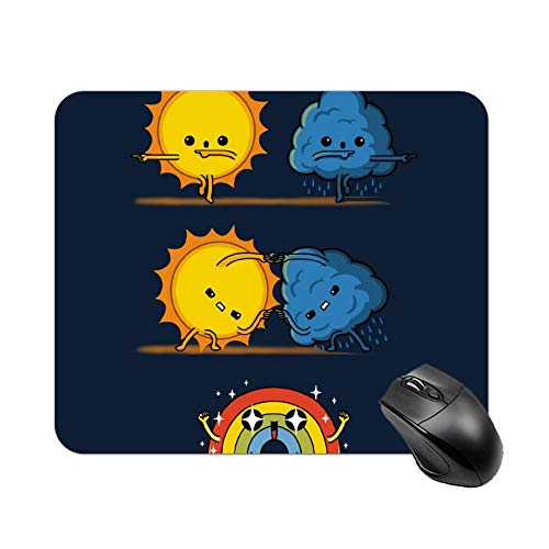 Bao-LJH Mouse Pad Meteorological Fusion Customized Rectangle Non-Slip Rubber Mousepad Mousepad Cute