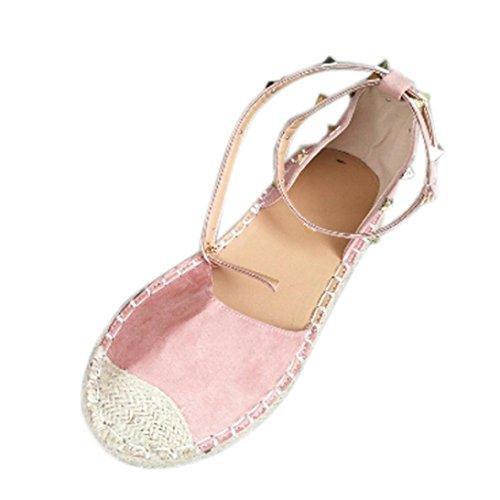 De Femmes Espadrilles Ado Lacets Plates t Sandales Chaussures Largeur Sandales Escarpin Angelof Randonnee Femmes Sandales Rose Bandage t Grande Rivet Fille twZz4gqT