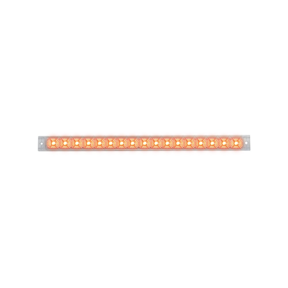 Grand General 76983 Red 20'' Single Row Spyder 17-LED Stop/Turn/Tail Sealed Light Bar with Clear Lens