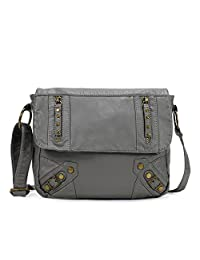 Scarleton Zipper Accent Flap Crossbody Bag H1830