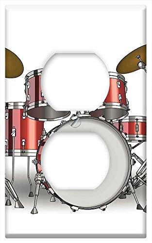 Switch Plate Outlet Cover - Drums Drum Set Background Music Instrument 2