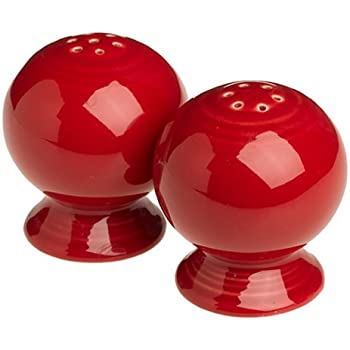 cheerful cool salt and pepper shakers. Fiesta 2 1 4 Inch Salt and Pepper Set  Scarlet Amazon com