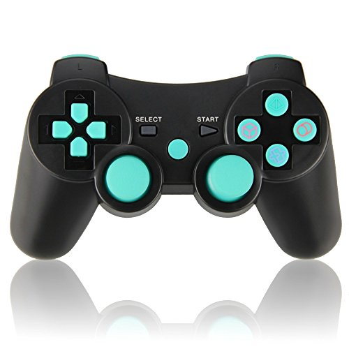 Wireless Double Vibration Game Controller for PS3, Bluetooth Sixaxis Gamepad for Sony PS3 Playstation 3