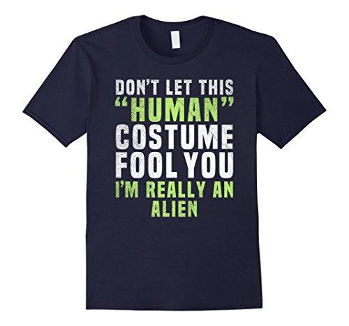 Mens Alien Funny Halloween Shirt Costume Easy for Women Men Kids 2XL Navy