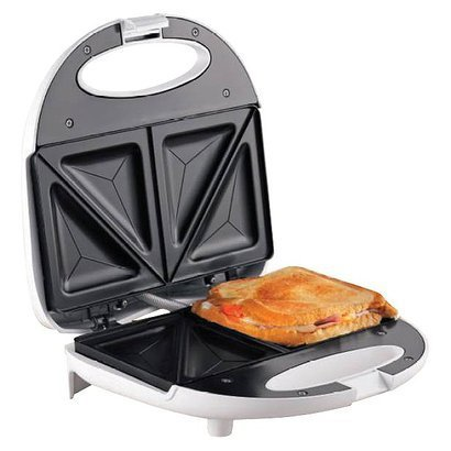Chefmate 2 Slice Sandwich Maker Grill Nonstick Plates Upright Storage by Chefmate