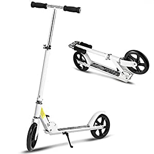Hikole Scooter for Adult Youth Kids – Foldable Adjustable Portable Ultra-Lightweight | Teen Kick Scooter with Shoulder Strap, Birthday Gifts for Kids 8 Years Old and Up | Support 220 lbs