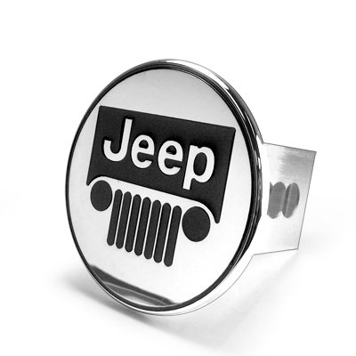 - Au-tomotive Gold Jeep Grille Logo Steel Tow Hitch Cover Plug,Silver