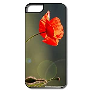 Brand New Poppy Flower Pc Case For IPhone 5/5s