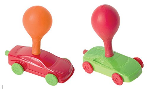 Balloons Racing (Balloon Powered Toy Race Cars - Air Power Car Racer Vehicles Play Kit Set - 2 Racing Cars + 12 Balloons - Toys for Kids Party Favors Birthday Gifts Stuffers)