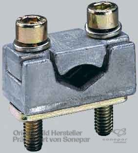 Wohner 33166 Prism Terminal for Fuse Switch-Disconnector, Accepts Copper or Aluminum Cable, 35 mm² to 150 mm², Size 1
