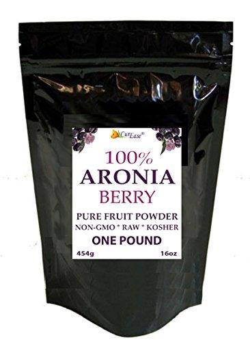 CurEase Natural Black Aronia Raw Pure Chokeberry Bulk Pow...