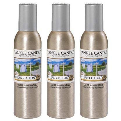 Yankee Candle Concentrated Room Spray 3-PACK (Clean Cotton)