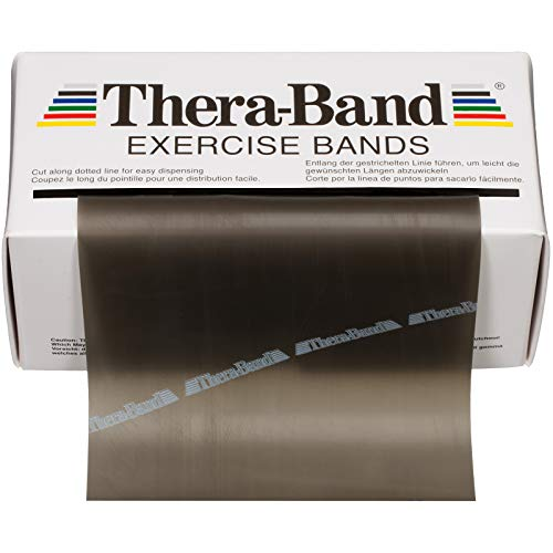 TheraBand Resistance Bands, 6 Yard Roll Professional Latex Elastic Band For Upper & Lower Body, Core Exercise, Physical Therapy, Pilates, Home Workouts, Rehab, Black, Special Heavy, Advanced Level 1 by TheraBand (Image #6)