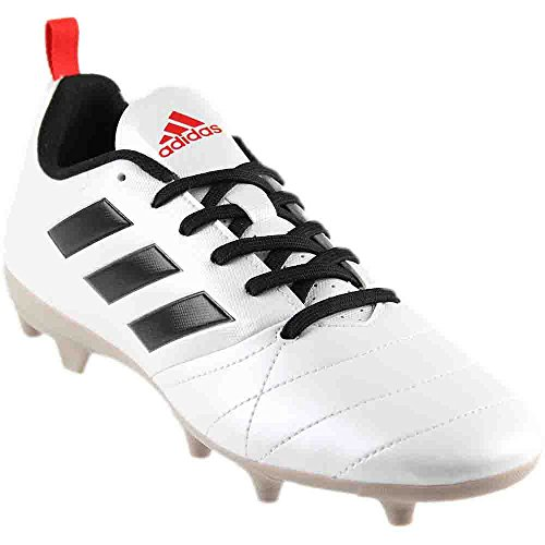 adidas Originals Women's Ace 17.4 FG W Soccer Shoe, White/Black/Core Red S, 9 M US Fg Womens Cleats