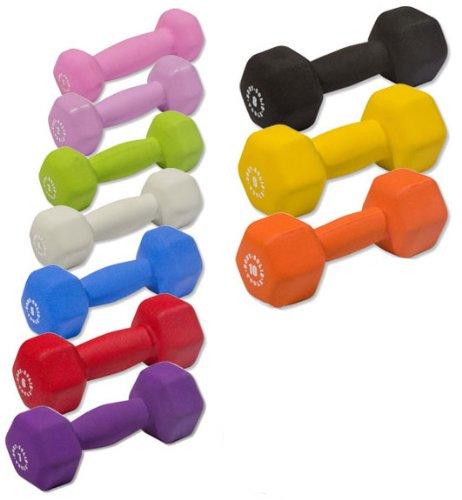 Body-Solid Neoprene Dumbbells - 1-10 lb. Set