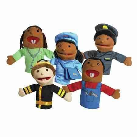 The Childrens Factory 5 Piece Career Puppet Set   Pretend Play   Hand Puppets   Dimensions  Overall Height   Top To Bottom  10 Inches   Overall Product Weight  1 4 Pounds