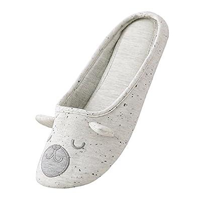 bestfur Women's Cute Soft Sole Cozy Cotton House Slippers