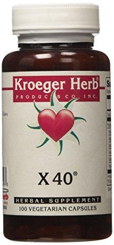 Kroeger Herb X 40 Vegetarian Capsules, 100 Count