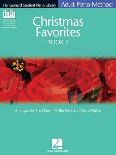 Christmas Favorites Book 2 - Book/GM Disk Pack: Hal Leonard Student Piano Library Adult Piano Method