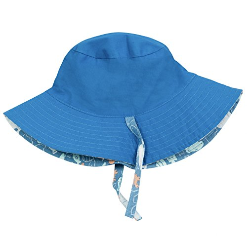 856dee65e8669 Eriso Baby Toddler Plaid Bucket Reversible Sun Protection Animal Hat  ((18.8