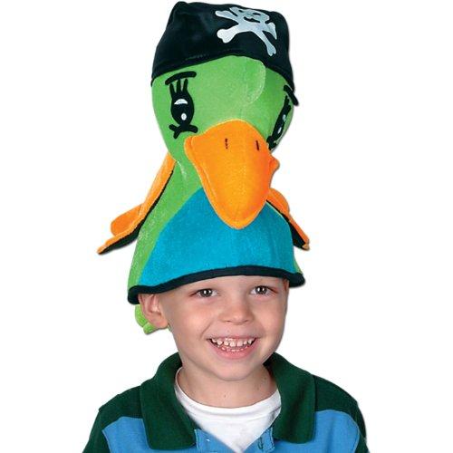 Plush Pirate Parrot Hat Party Accessory (1 count) (1/Pkg) -