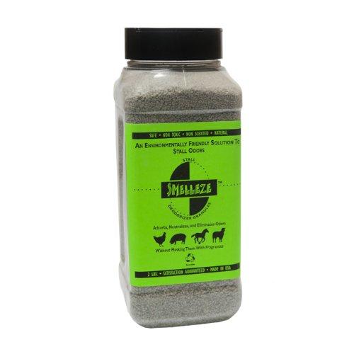 SMELLEZE Natural Stall Odor Removal Deodorizer: 50 lb. Granules Destroy Stinky Urine Safely by SMELLEZE