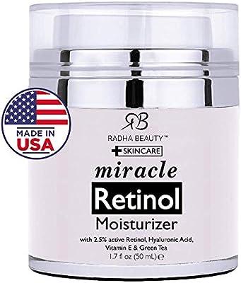Radha Beauty Retinol Moisturizer Miracle Cream for Face ...