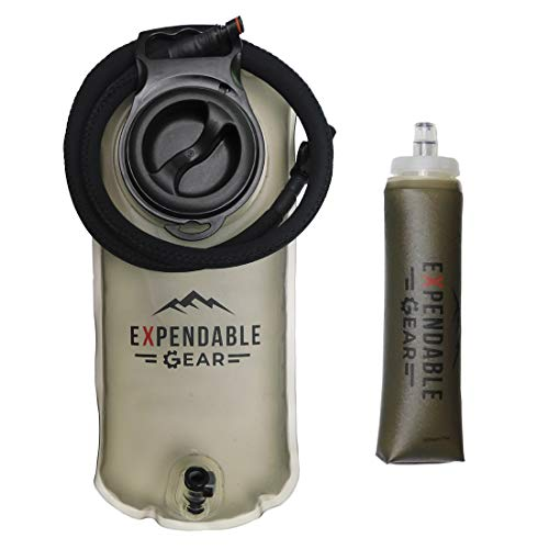 System Insulator Hydration (ExpendableGear 2L Hydration Bladder 3L Hydration Bladder Replacement BPA Free Leak Proof Water Reservoir Backpack Insulated Tube Cover Mouthpiece (3L))
