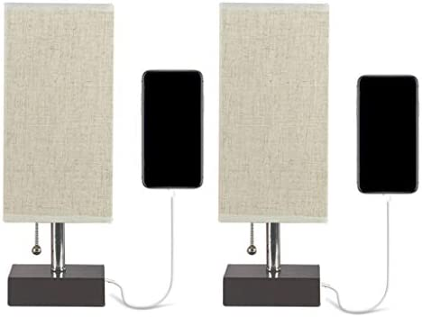 Bedside Table Lamp Usb Charging Station Solid Wood Nightstand Lamp With Fabric Shade E27 Screw Maximum Power 25 Watts With Switch Without Bulb For Bedroom Living Room Office Packof2 Buy Online At,Nordli Bed Frame With Storage Instructions