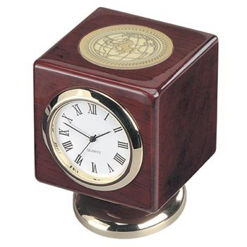 Texas Christian TCU Horned Frogs Cube Desk Clock by Alumni Gift