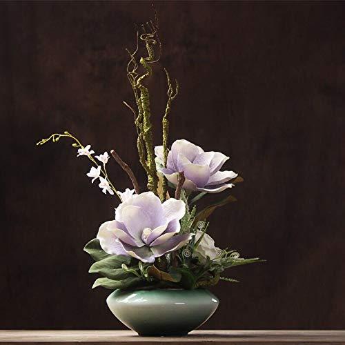 造花インテリア 雑貨 花束 インテリアフラワー お部屋の装飾 フラワーポット入り 造花ブーケ ホテルフロント 応接室.最適、とても豪華です B07QCL4TP4