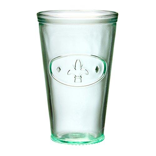 Fleur De Lis Highball - Amici Home Fleur De Lis Hiball Glass, 16 oz, Set of 6