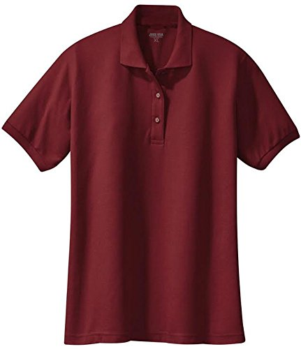 Ladies short sleeve polo shirts in 36 colors and sizes xs for Polo shirts tall sizes