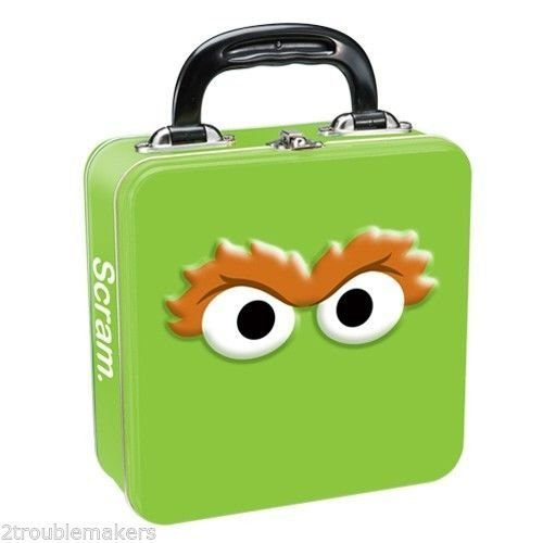 Sesame Street Oscar the Grouch Tin Lunch Box