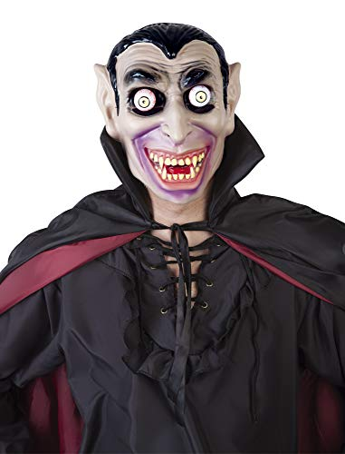 Haunted House - Dracula Mask with Moveable Eyes, Multi-Colour (Rubies S5146) ()