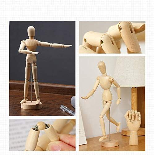 N A Accesorios para el hogar de madera de arte humano articulado Dibujo articulaciones flexibles maniqu/íes figuras mu/ñeca modelo boceto maniqu/í mano cocina