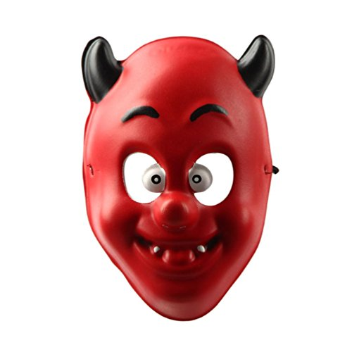 [Mask, Bigban 1 PC Crazy Halloween Funny Diversity Fancy Ball Mask For Children (red)] (Red Baron Baby Costume)