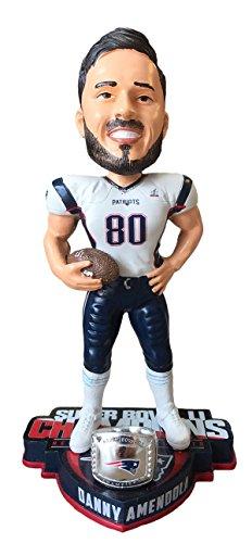 FOCO NFL New England Patriotsamendola D. #80 Super Bowl Li Champions 8'' Bobble, New England Patriots, One Size by FOCO