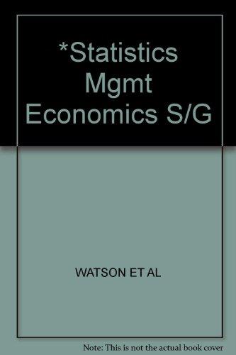*Statistics Mgmt Economics S/G