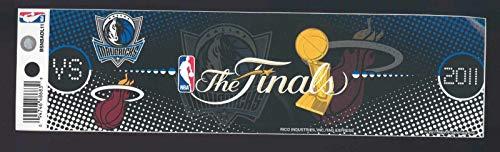 2011 dallas mavericks miami heat NBA FINALS bumper sticker NBA